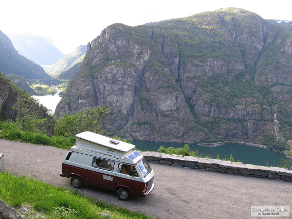 A quiet lay-by in Norway... until 4am
